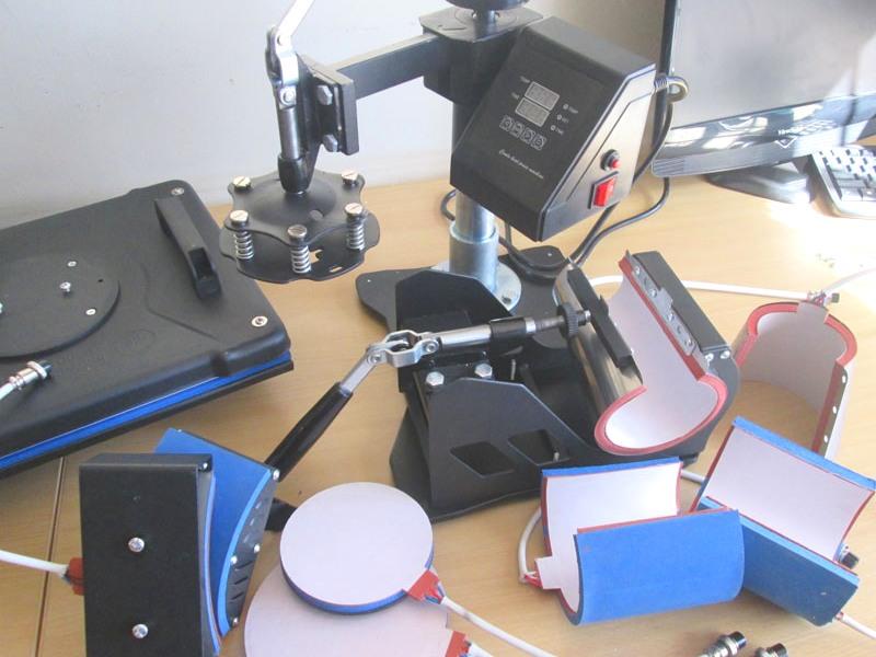 H-PRESS/MT6 Heatware MT6 1400W Heat Press Multitalent, Flat Press, Two Mugs Presses, Two