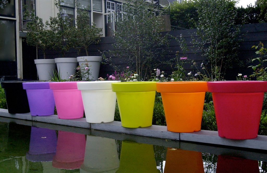 Flower pots - 'Bloom Pots' made in Holland with inner light