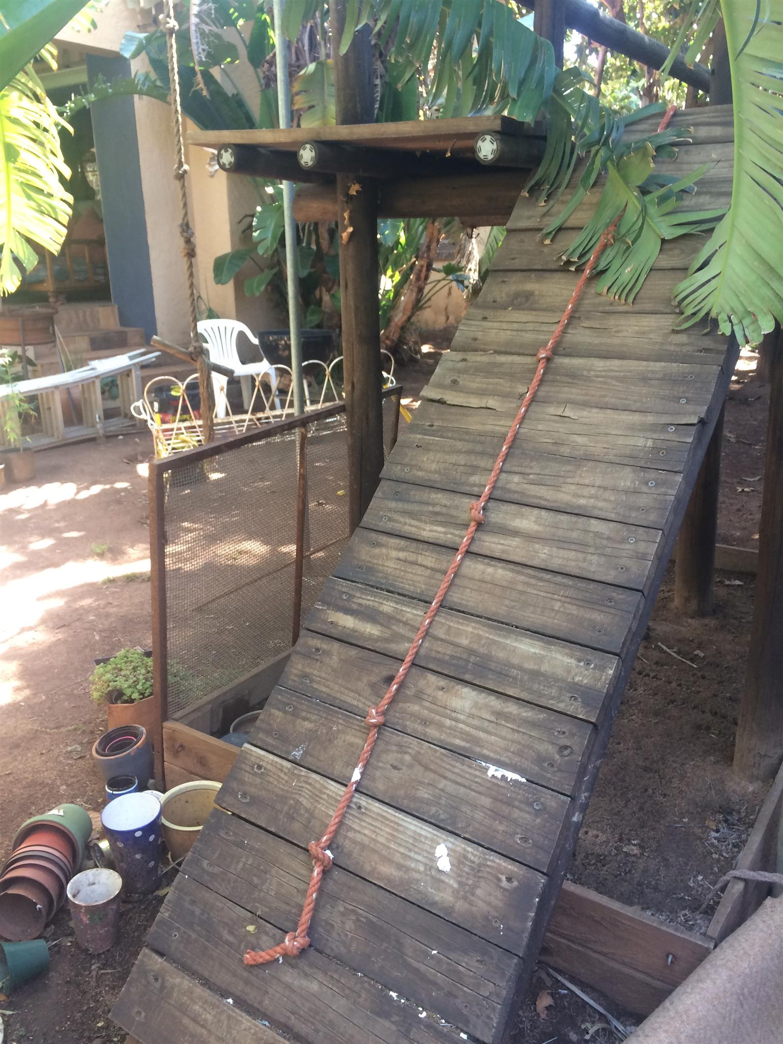 Jungle gym, massive wooden