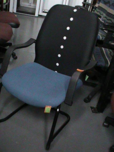 Blue/black fabric chair