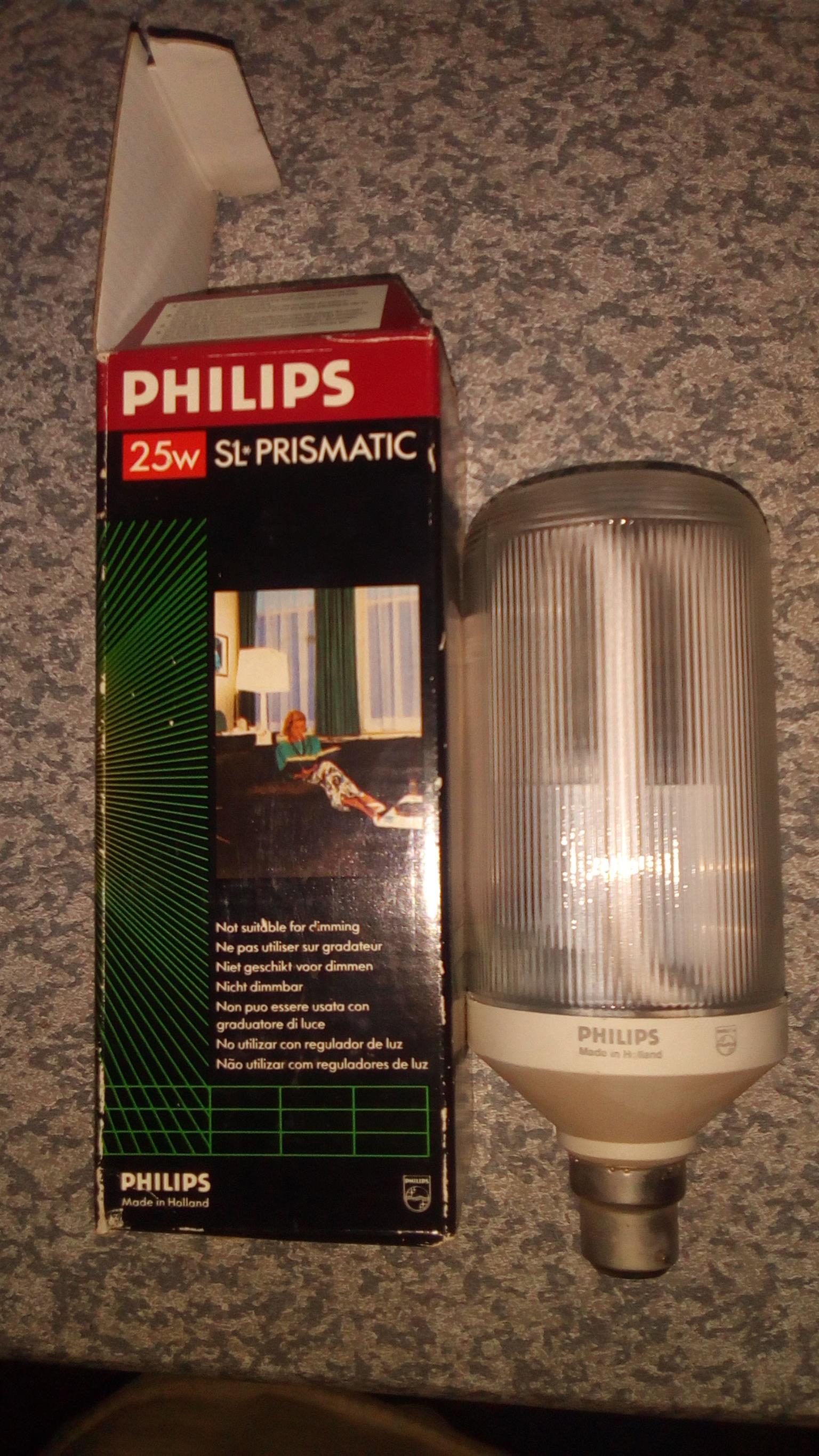 Philips - 25w - SL Prismatic light bulb