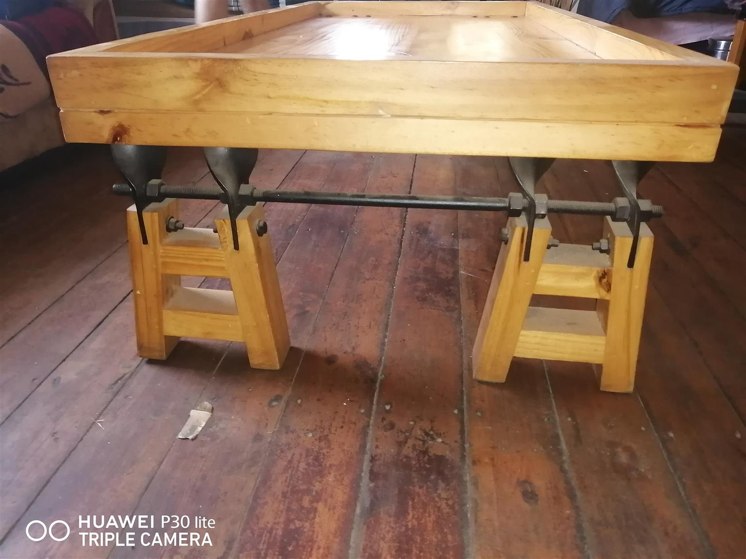 Beautiful solid oak table 1 of a kind ideal for game nights and so on price is negotiable