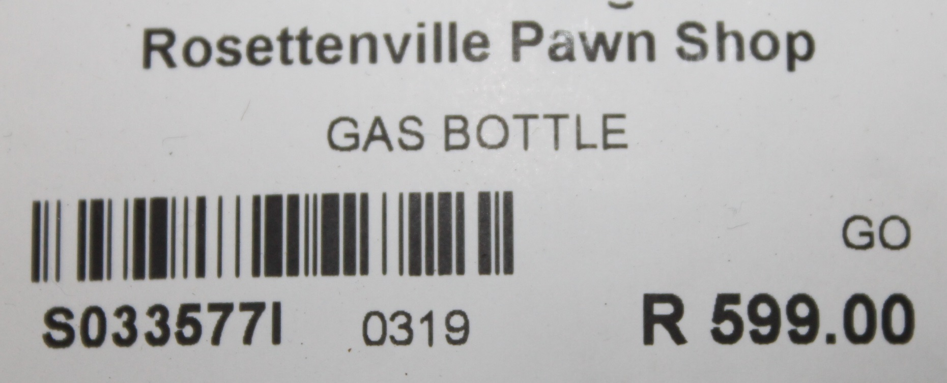 Gas bottle S033577I #Rosettenvillepawnshop