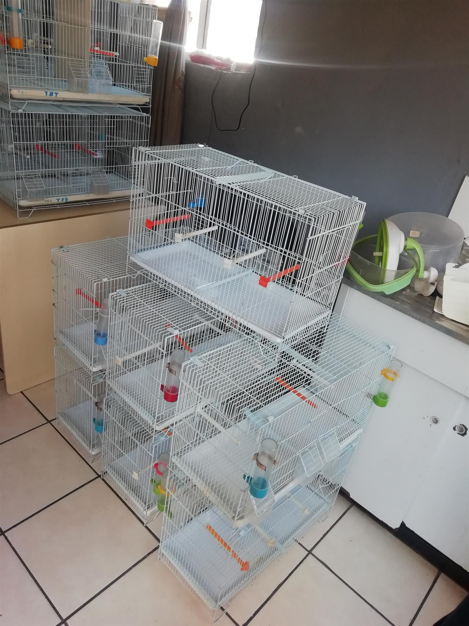 Double breeding bird cages