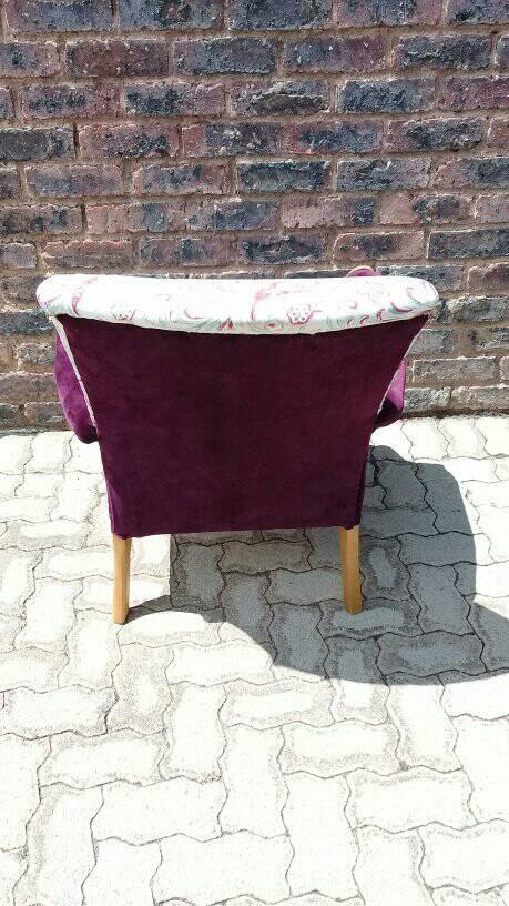Newly upholstered/refurbished single armed chair