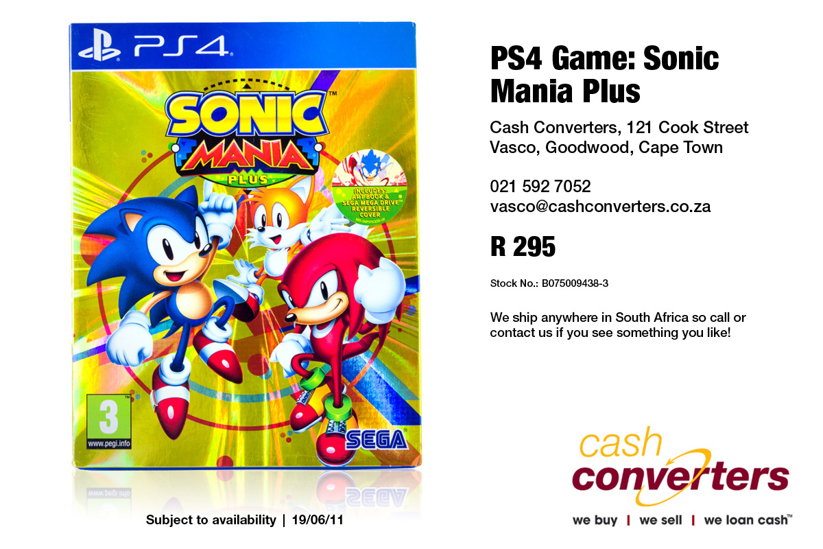 PS4 Game: Sonic Mania Plus