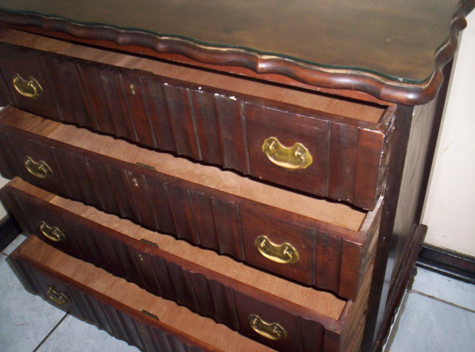 Ball and Claw four drawer chest of drawers
