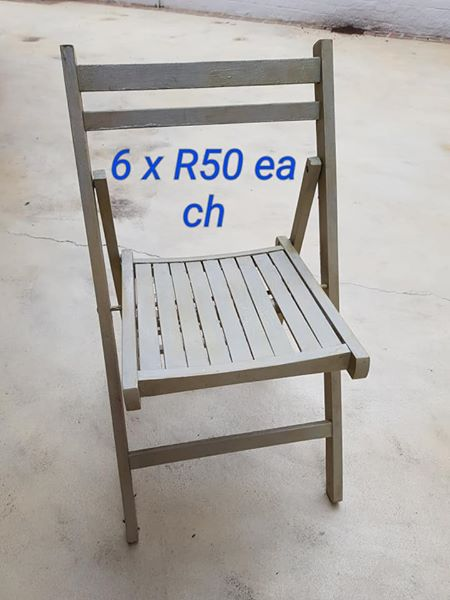 6 Fold up chairs for sale
