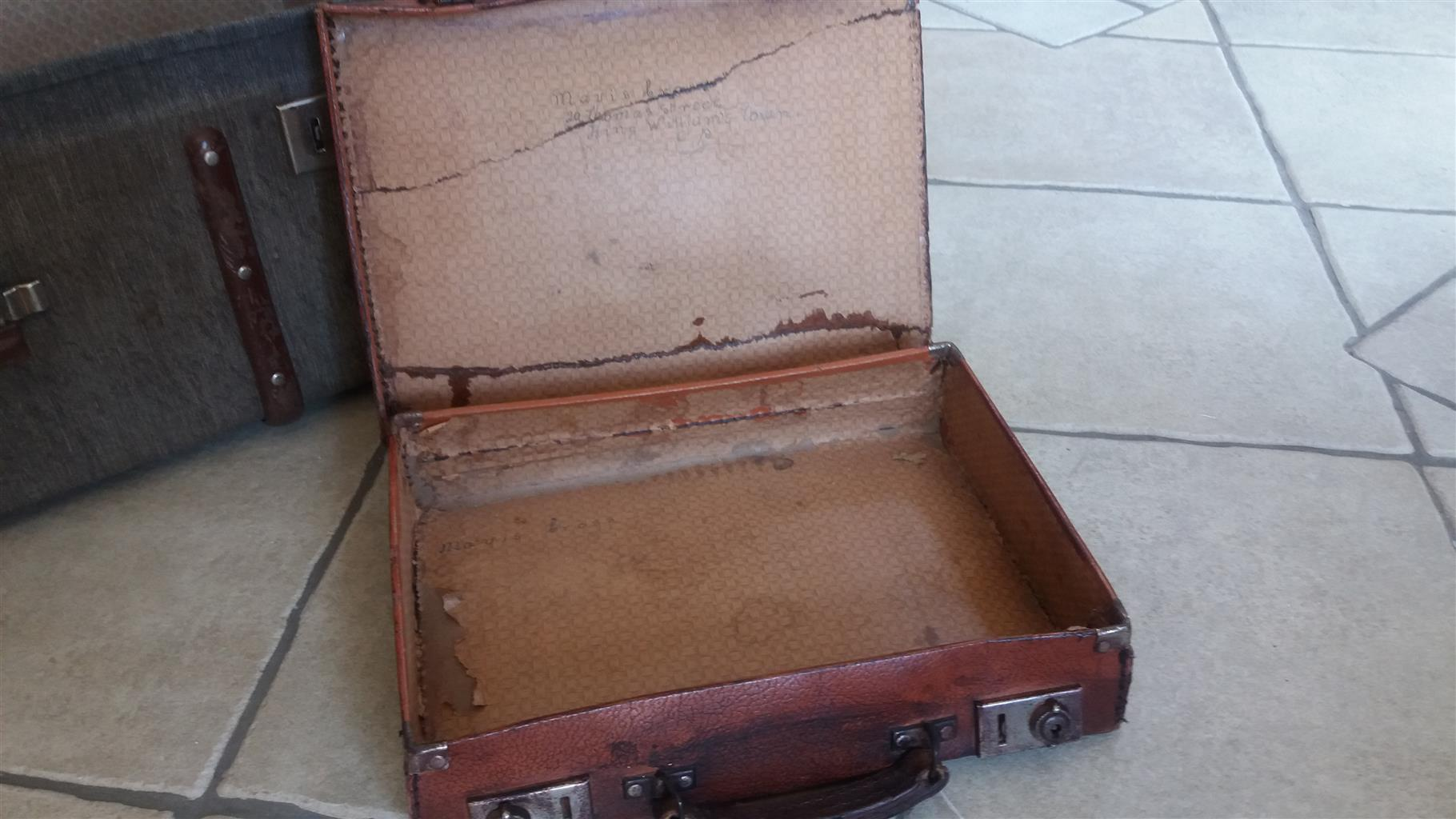 Small leather attache case