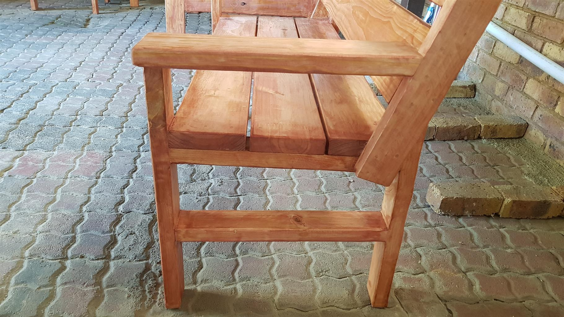 Solid Wooden Benches For Sale Either A Single Seater Or