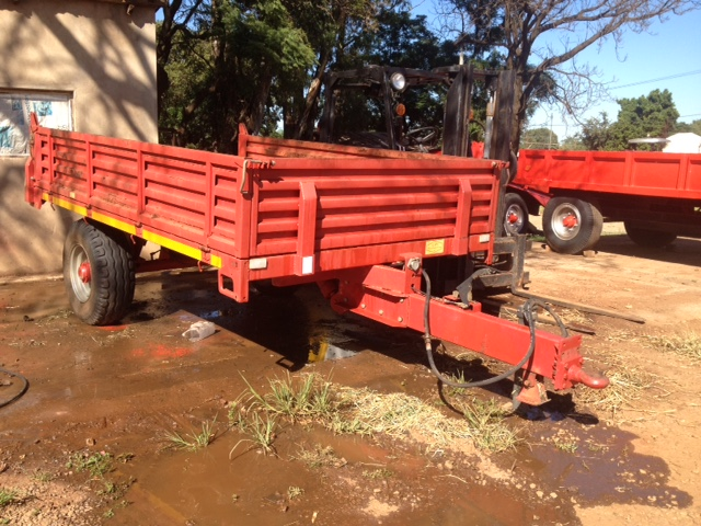 Red BPI 5 Ton Tip Trailer / Tip Wa Pre-Owned Trailer