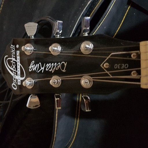 Washsburn Oscar Schmidt OE30 Semi-Hollow Body 335-Style Electric Guitar, Black OE30B