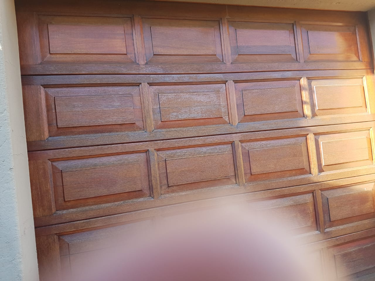 Wooden Merati single garage door for sale