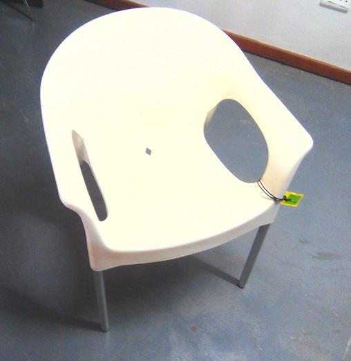 Europa arm cream chair.