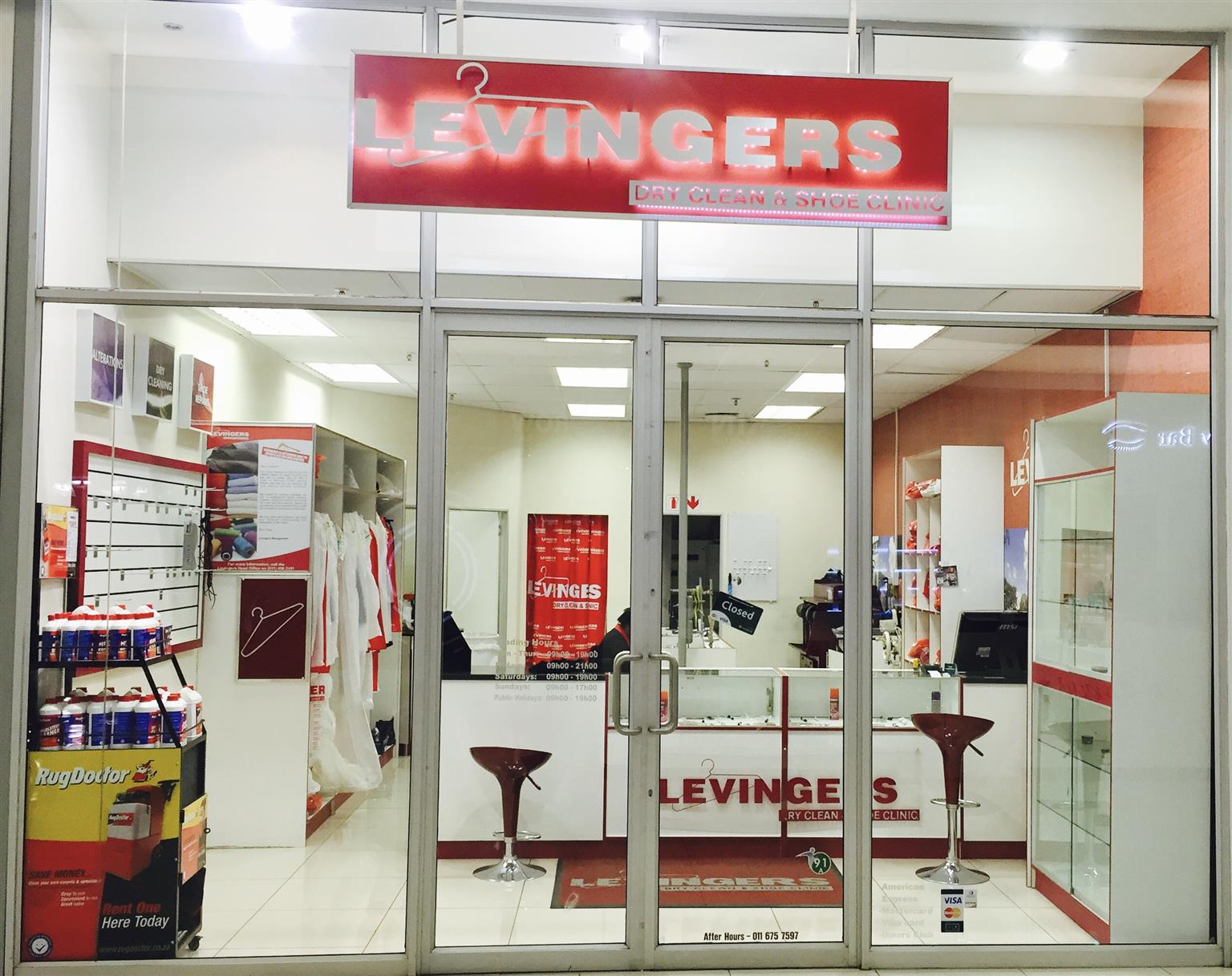 Levingers Franchise - Dry Cleaners and Shoe Repairs - Clearwater Mall