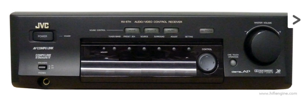 JVC RX-5THPBK Home Theatre Receiver & Speakers