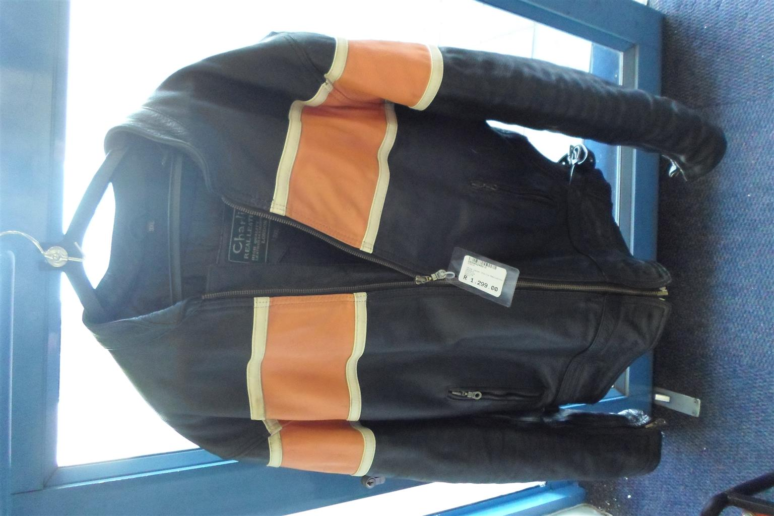 3XL Charlie Leather Motorcycle Jacket