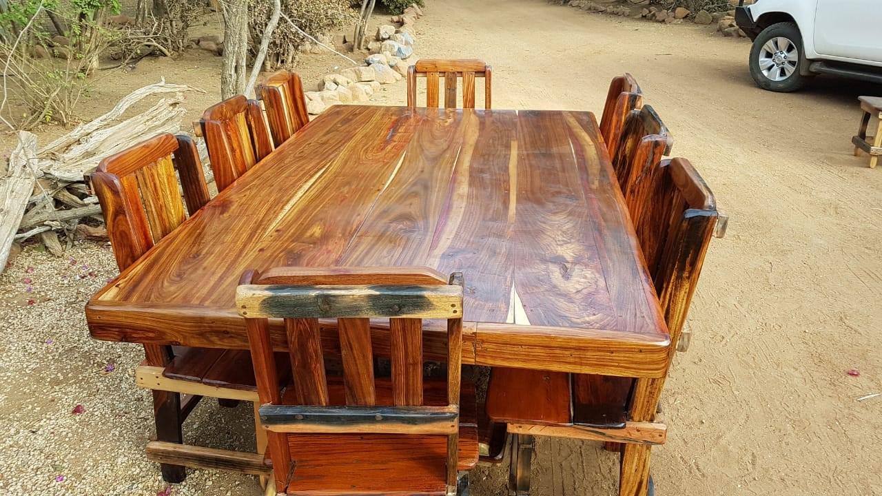 8 Seater dining room table set sleeper wood