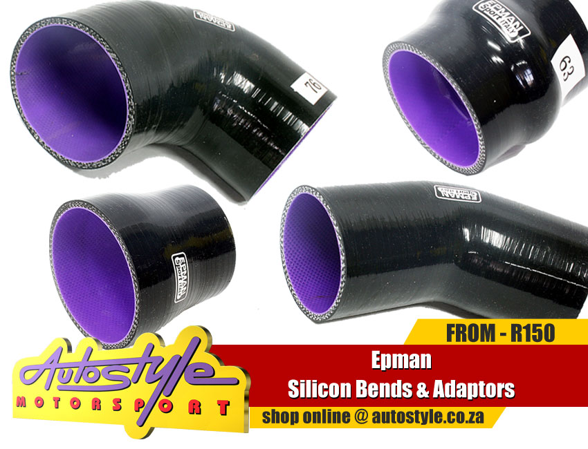 EPMAN silicone bends and reducers for boost, airflow, pressure, turbo etc from R150