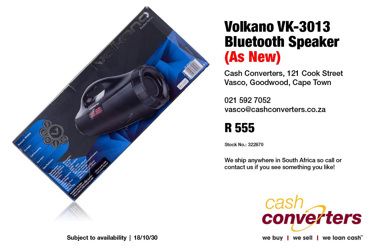Volkano VK-3013 Bluetooth Speaker (As New)
