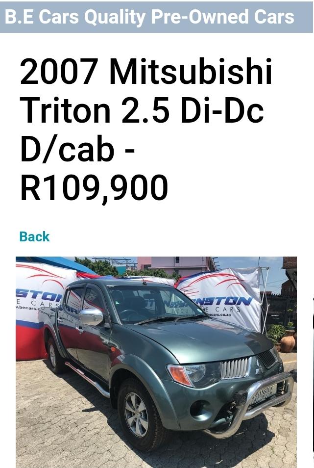 2007 Mitsubishi Triton 2.5DI D 4x4 double cab