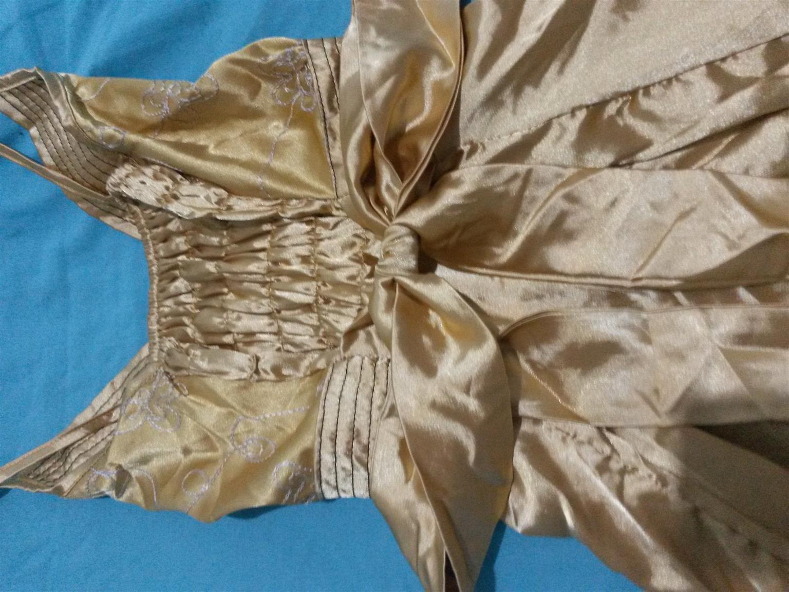 gold satin dresses