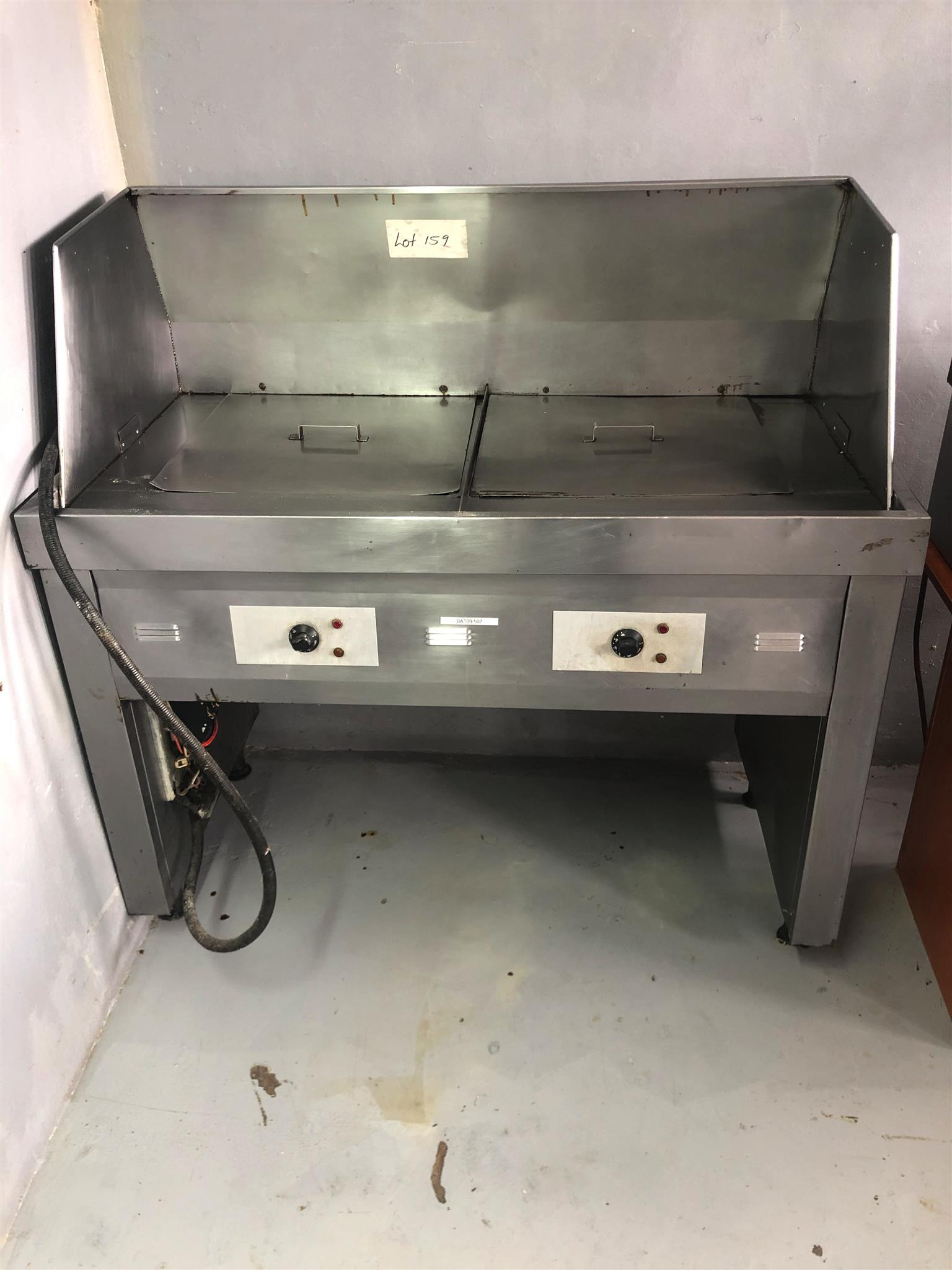 Industrial Double High Volume Deep Fryer 3 Phase Power