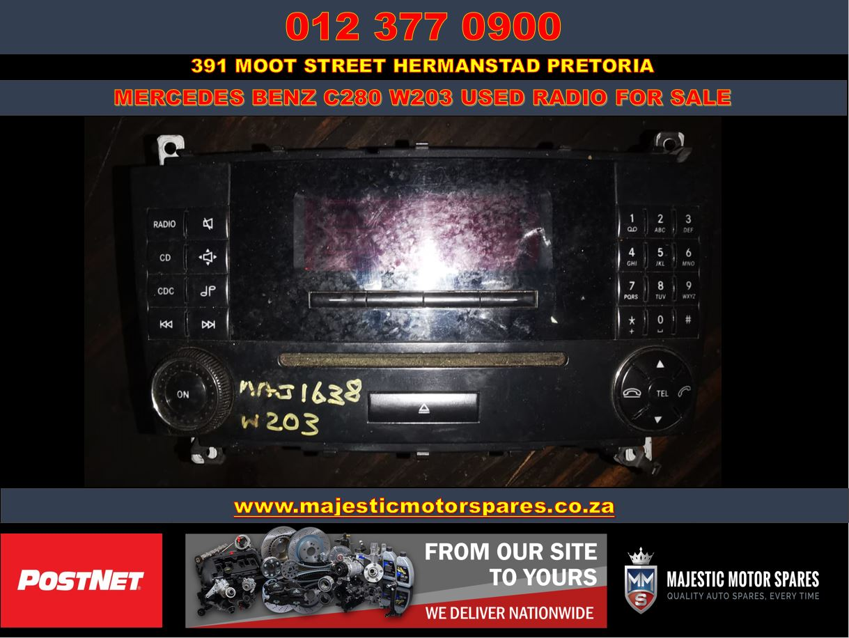 Mercedes Benz C280 W203 used car radio for sale