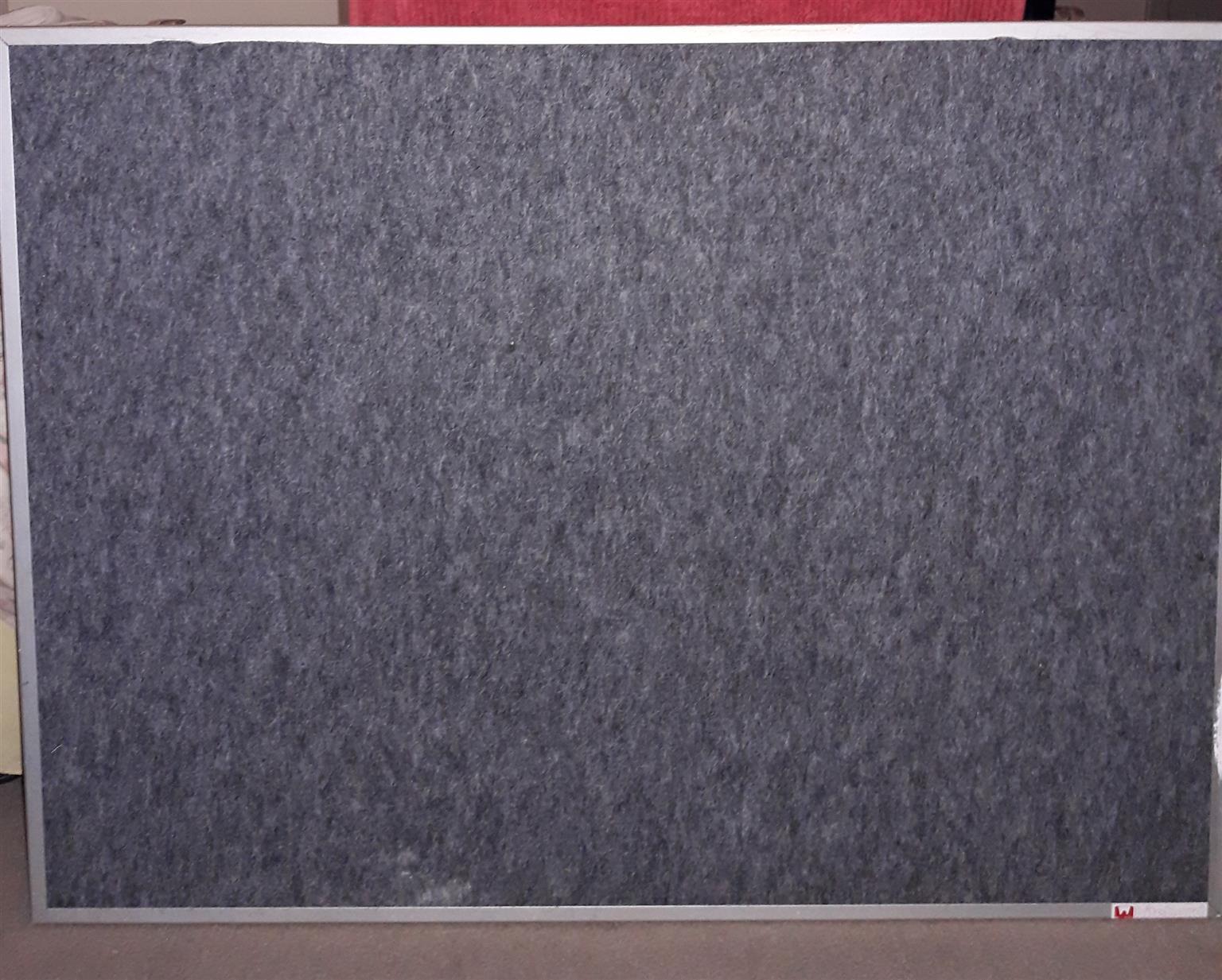 Notice Board, Felt with Aluminium frame