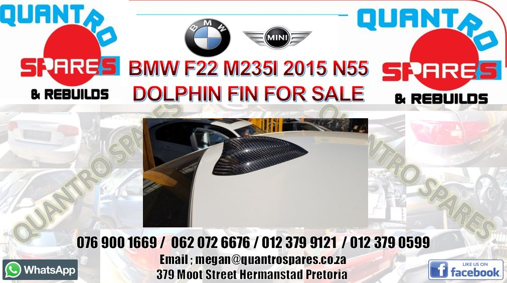 Bmw F22 M235i 2015 dolphin fin for sale