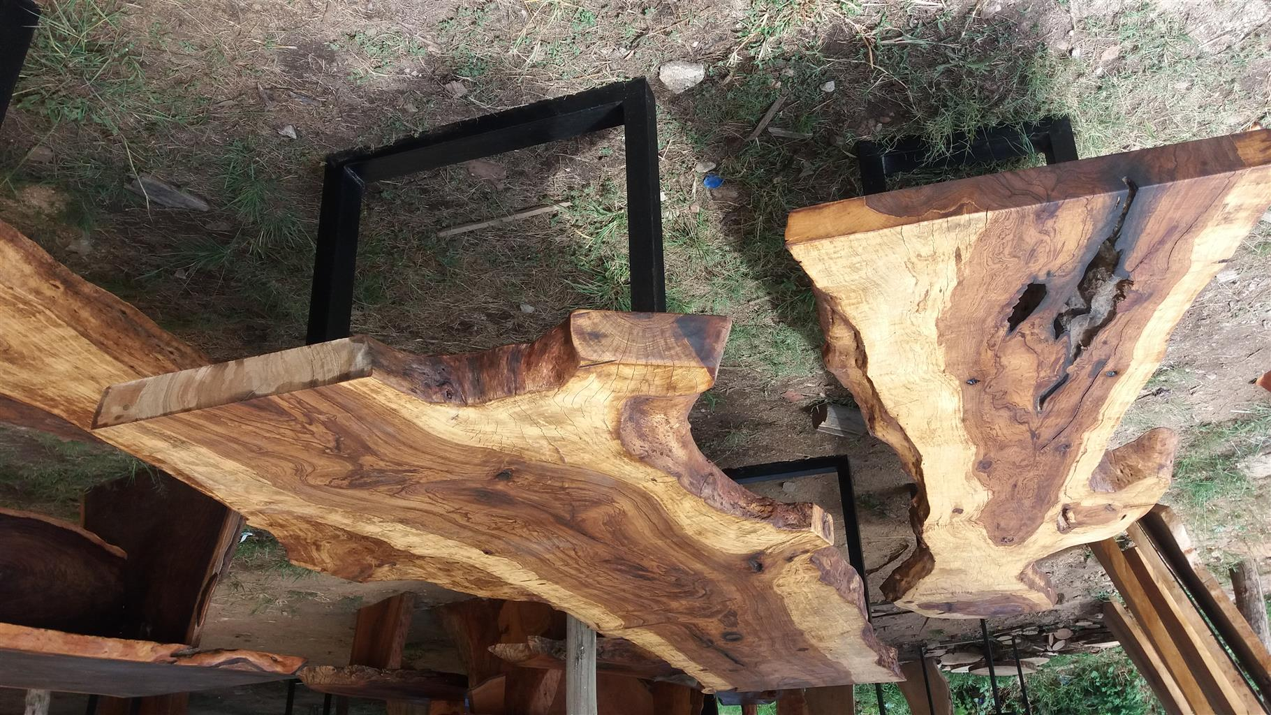 wooden slabs and solid wood furniture