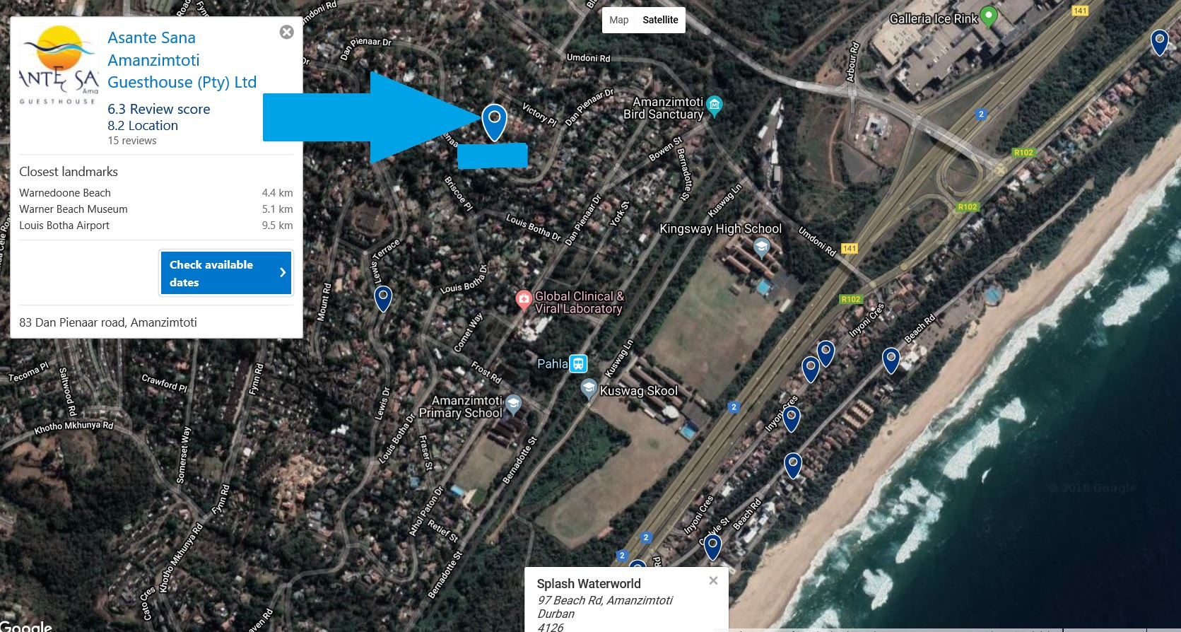 Contractors accommodation South Coast  - Amanzimtoti