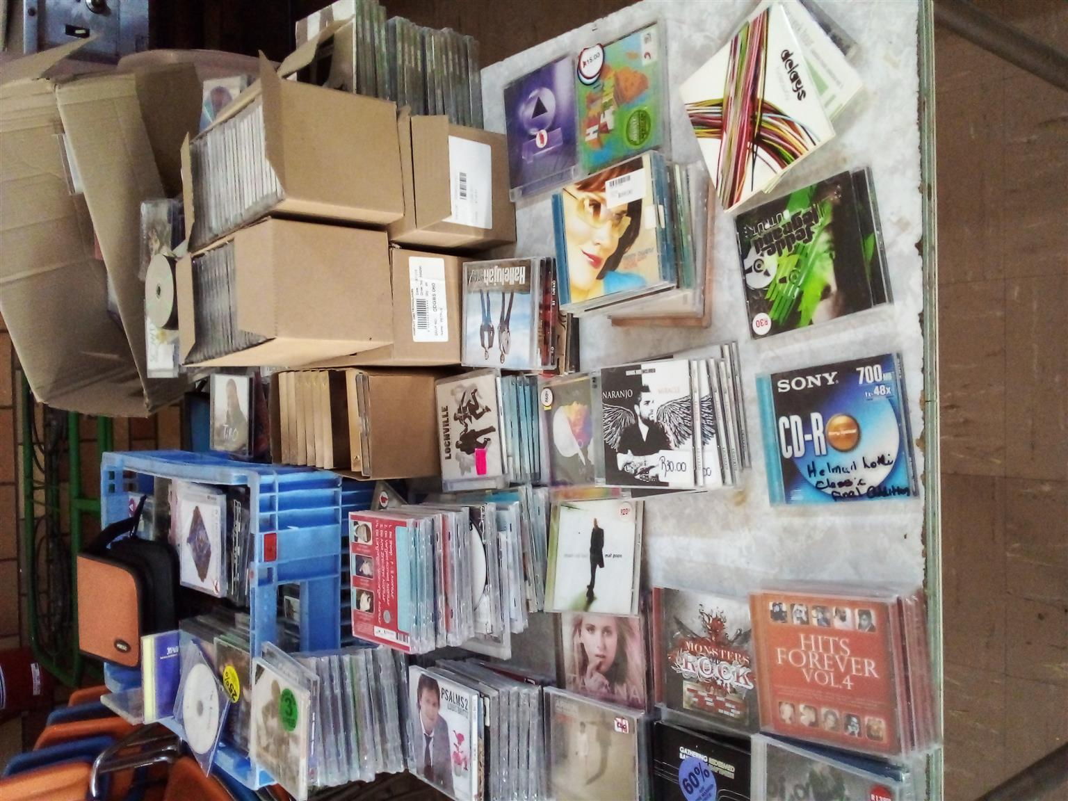Job lot of CD , LP records and DVD For Sale