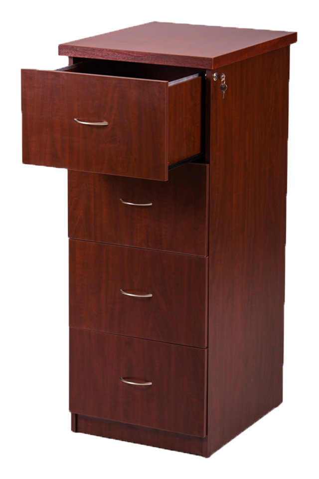 4 Drawer Filer. Available in Mahogany, Oak and Cherry.