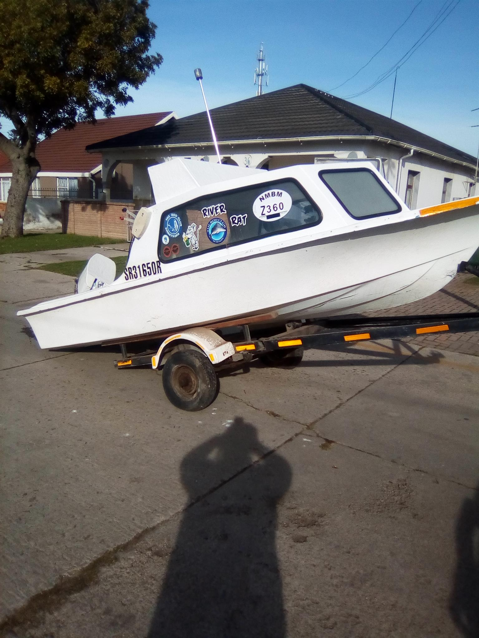 Cabin Boat trailer& Engine