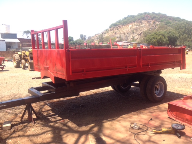 5 Ton Single Axle Double Wheel Trailer With Dropsides Pre-Owned Tractor