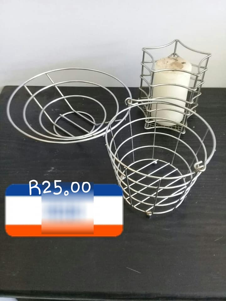 Candle holder wire baskets for sale
