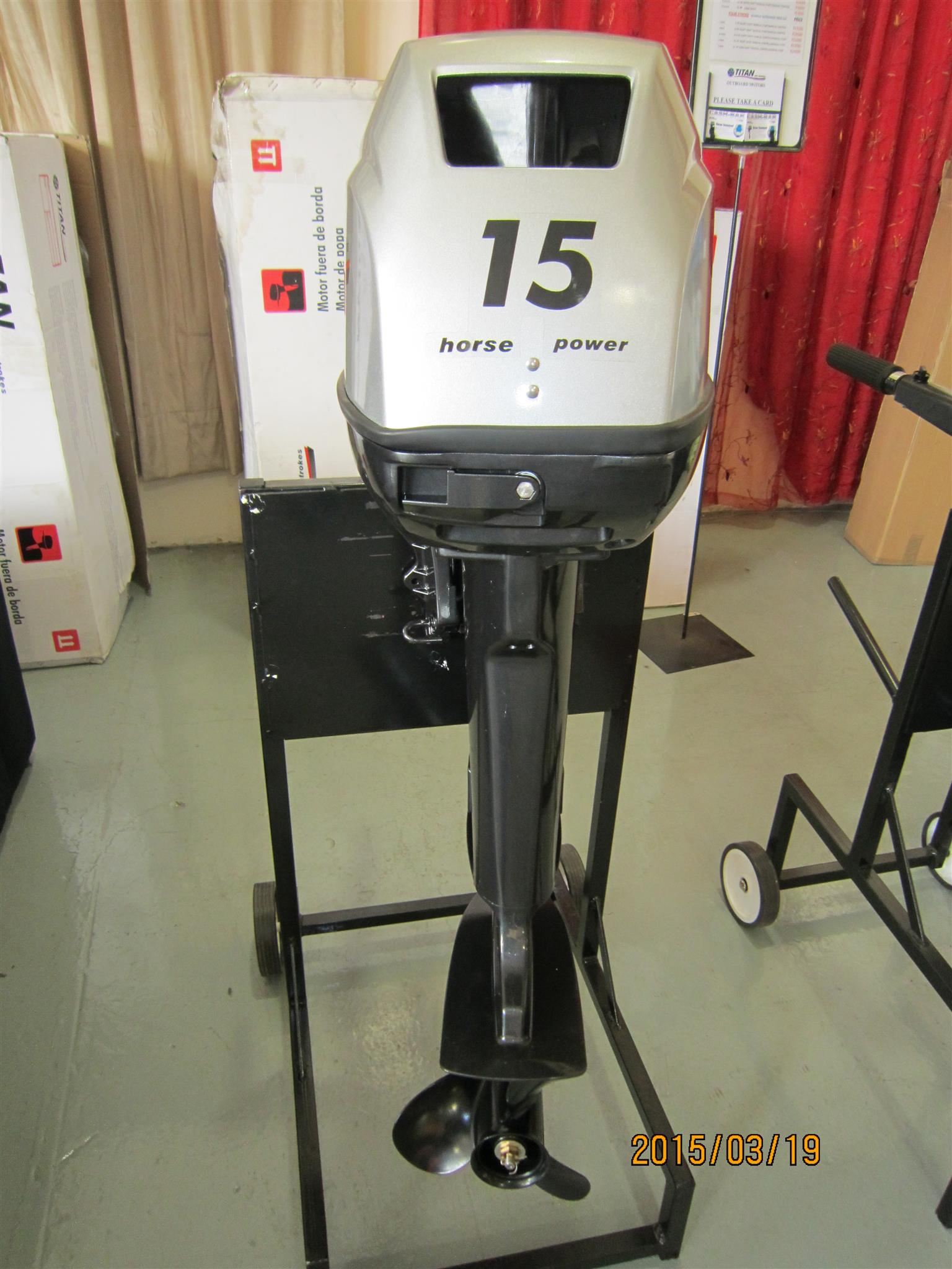 15 HP Outboard motor,Long shaft,Titan,BRAND NEW, Quality Parts are  interchangeable with Yamaha | Junk Mail