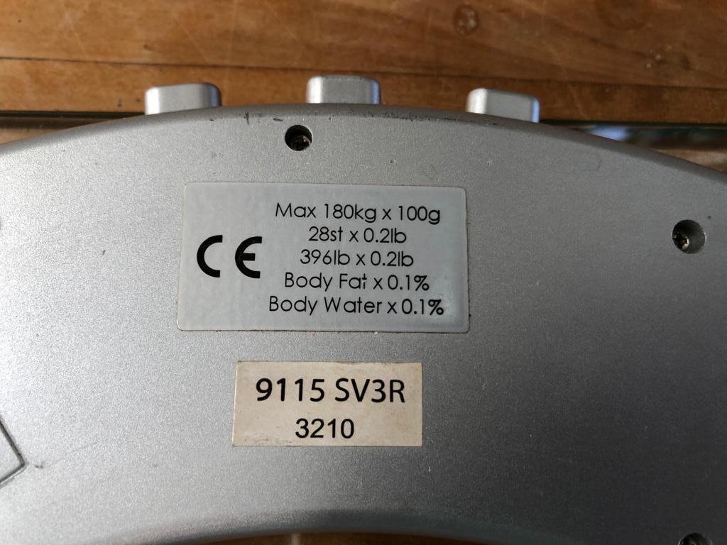 Salter Ultra Slim Glass Analyser Body Fat Scale - Silver