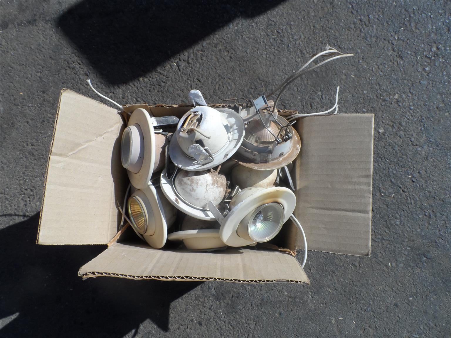 Job lot of globes, ceiling lights, etc. for sale,
