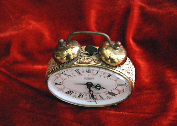 VINTAGE BLESSING BRASS ALARM CLOCK