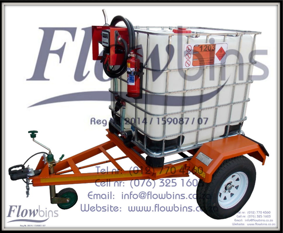 1000L Diesel Bowser Trailers 12V - Heavy Duty with Papers - from R21089