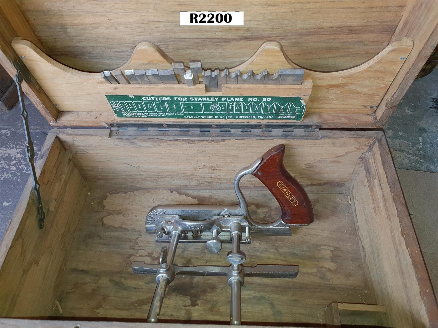 Stanley No 50 Combination Plane in Wooden Box
