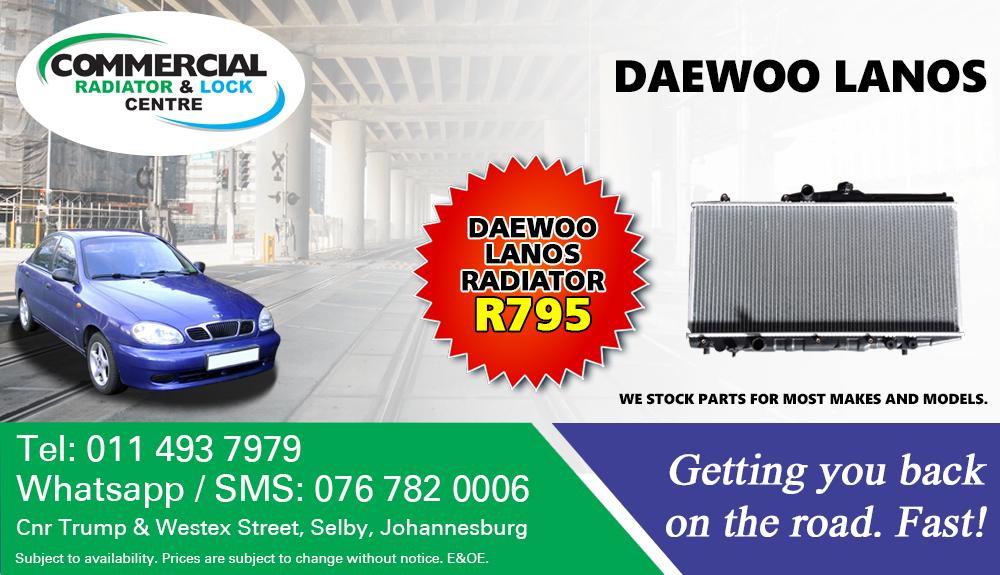 DAEWOO LANOS RADIATORS FOR SALE