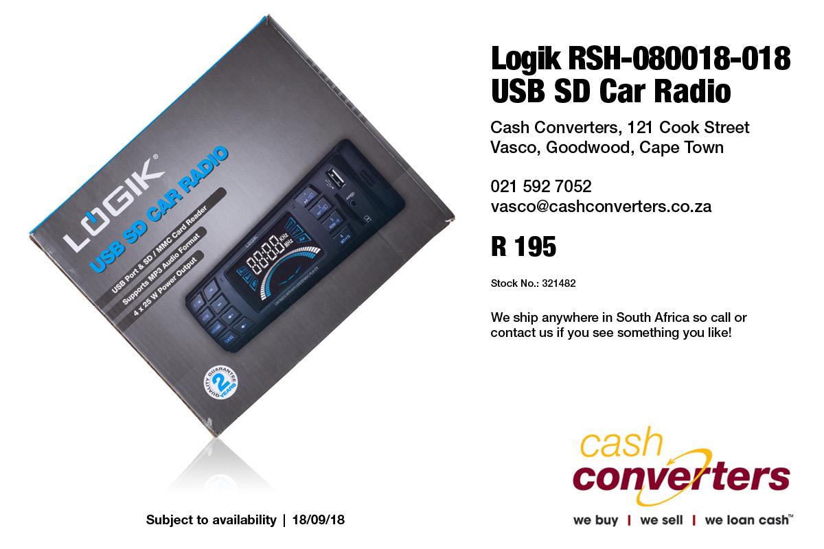 Logik RSH-080018-018 USB SD Car Radio
