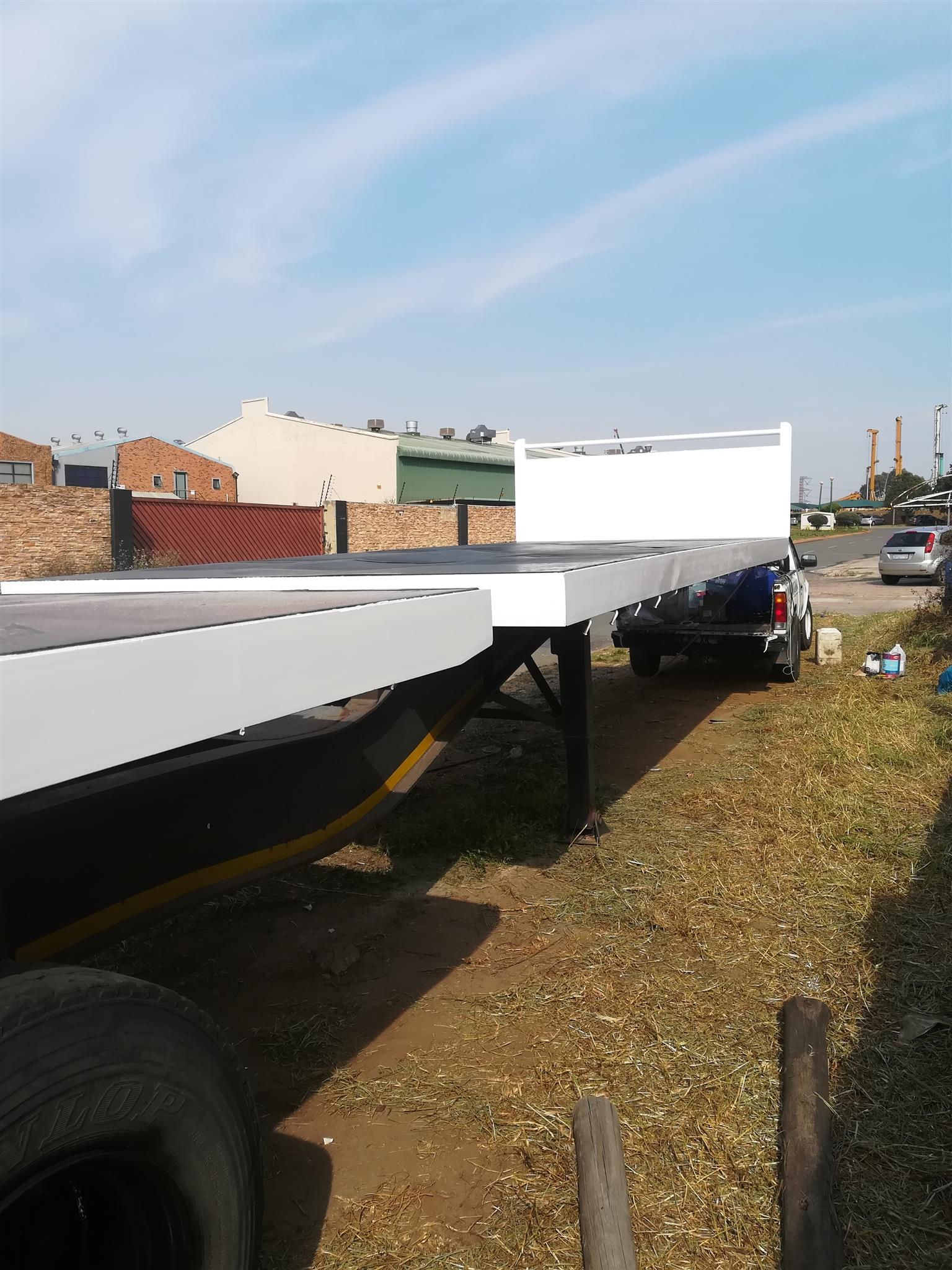 2010 SATB flat deck superlink trailer for sale