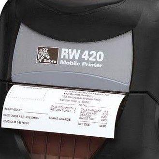 Zebra RW420 label slip barcode printer