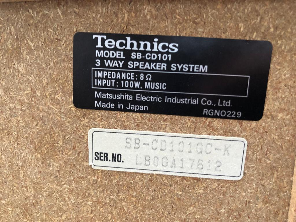 Classic Old school Technics 3-Way HiFi Speakers - very scarce - mint condition