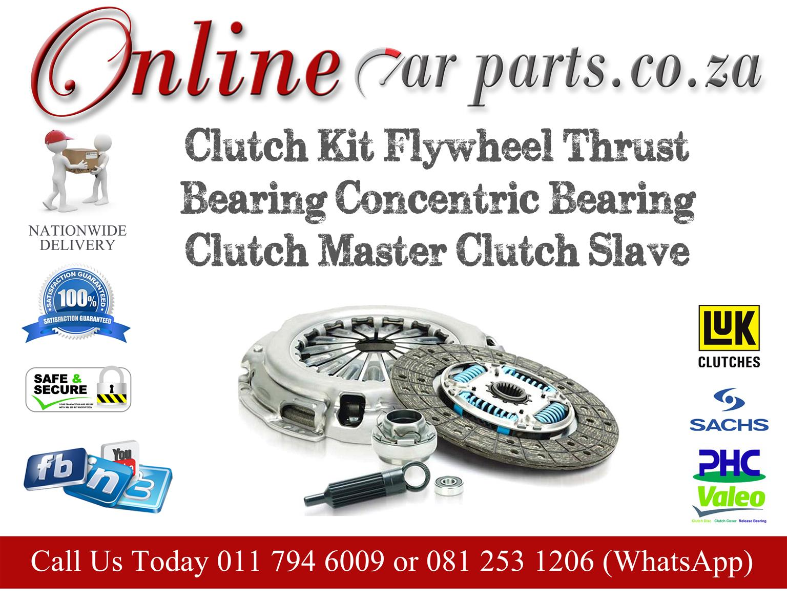 High Quality Clutch Kits Pressure Pates Clutch Discs Thrust Bearings Clutch Master Concentric Slave Cylinders Clutch Slave