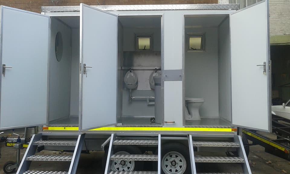 3 Door VIP Toilet for sale